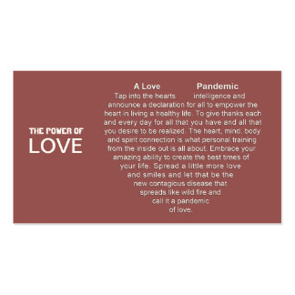 Pandemic Of Love Business Cards