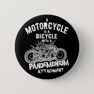 Pandemonium Attachment -bw Pinback Button