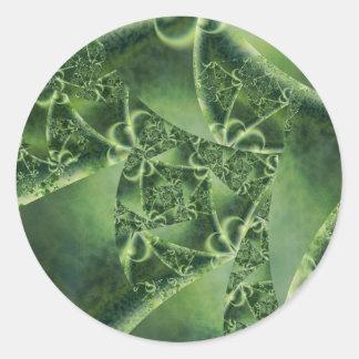 Pandemónium esmeralda pegatina redonda