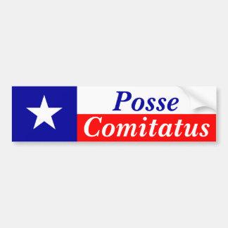 Pandilla Comitatus de Tejas Pegatina De Parachoque