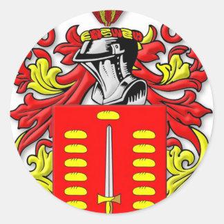 Pando Coat of Arms Classic Round Sticker
