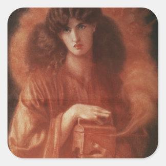 Pandora, 1869 square sticker