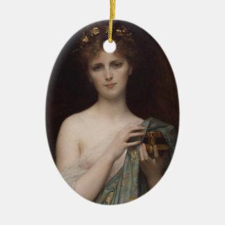 Pandora and the Box Ceramic Ornament