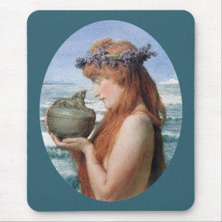 Pandora by Alma Tadema, Vintage Romanticism Mouse Pad