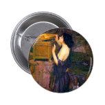 Pandora by John William Waterhouse Pinback Buttons