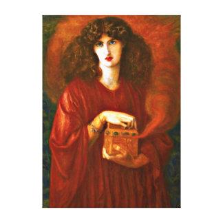 Pandora - Dante Gabriel Rosetti painting Canvas Print