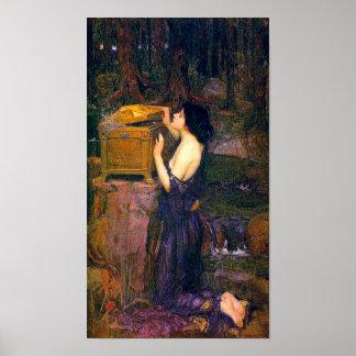 Pandora de John William Waterhouse Poster