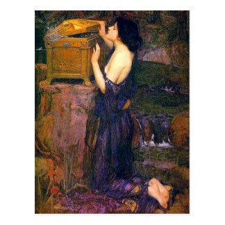 Pandora de John William Waterhouse Tarjeta Postal