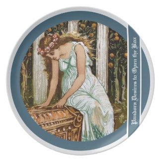 Pandora desires to open the Box Melamine Plate