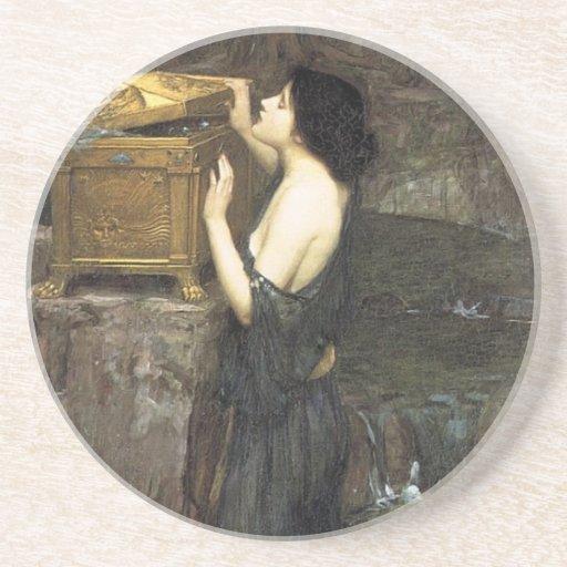 Pandora [John William Waterhouse] Posavasos De Arenisca