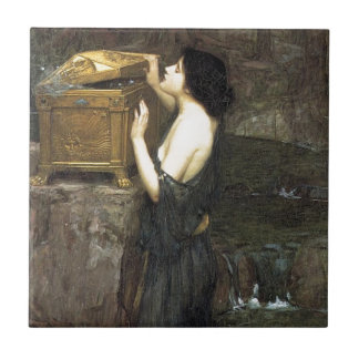 Pandora [John William Waterhouse] Ceramic Tile