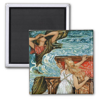 Pandora opens the Box 2 Inch Square Magnet