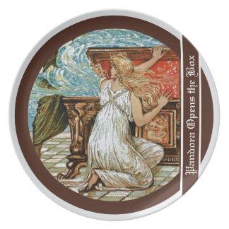 Pandora opens the Box Melamine Plate
