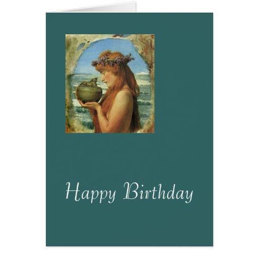 """""""Pandora"""" por Alma-Tadema Felicitacion"""