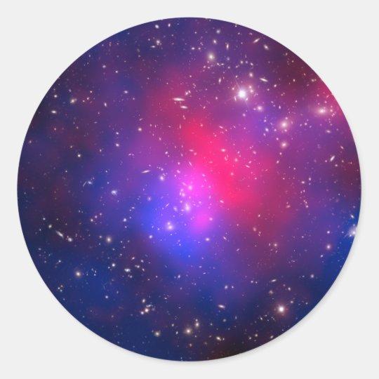 Pandora's Cluster - Abell 2744 Galaxies Classic Round Sticker