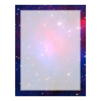 Pandora's Cluster - Abell 2744 Galaxies Letterhead Template