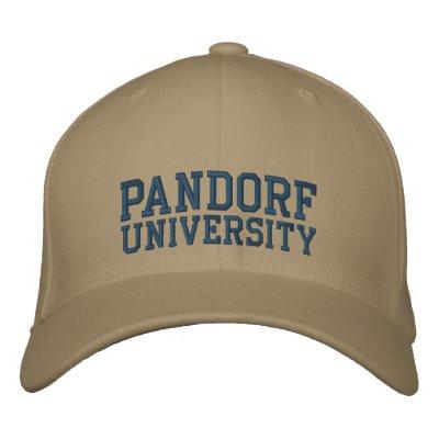 PANDORF UNIVERSITY HAT EMBROIDERED HAT