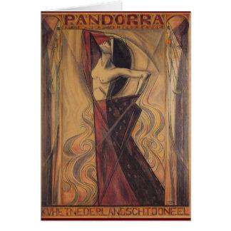 "PANDORRA ""Arturo Van Schendel"" 1919 Tarjeta De Felicitación"