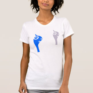 pandrava worm - blue and grey twin front T-Shirt