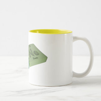 Pane as Pa Protactinium and Ne Neon Two-Tone Coffee Mug