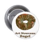 Panecillo de Nouveau del arte Pins