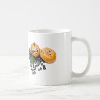 Panecillo del arándano taza de café