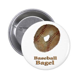 Panecillo del béisbol pin redondo de 2 pulgadas