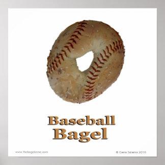 Panecillo del béisbol póster