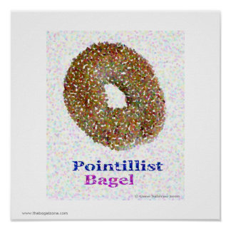 Panecillo del Pointillist Póster