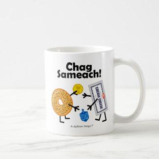 ¡Panecillo y queso cremoso - Chag Sameach! Taza Clásica