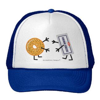 Panecillo y queso cremoso gorras de camionero