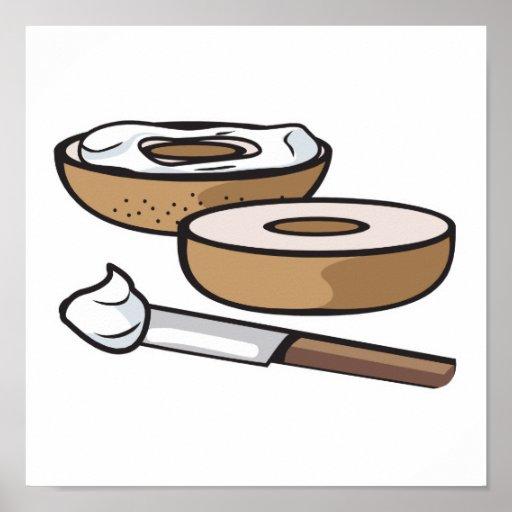 panecillo y queso cremoso impresiones