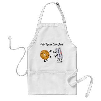 Panecillo y queso cremoso - personalizable delantal