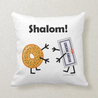 ¡Panecillo y queso cremoso - Shalom! Cojín