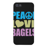 Panecillos del amor de la paz iPhone 5 carcasa