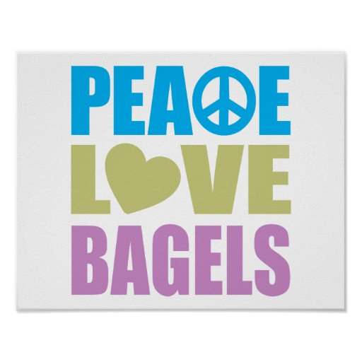 Panecillos del amor de la paz póster