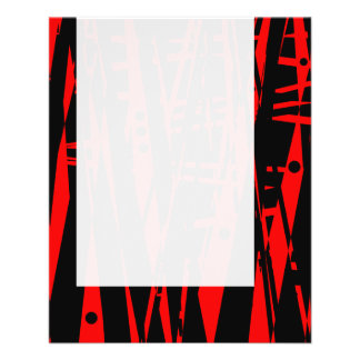 Panel 020 - Abstract in Red and Black Flyer