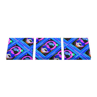 Panel Blue Gallery Wrap Canvas