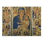 Panel central del tríptico con Maria y su hijo Tarjetas Postales