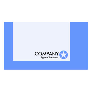 Panel - Colors - Star - Baby Blue Business Card Templates