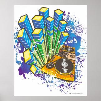Panel de control de DJ Posters