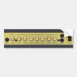 Panel de control del amplificador pegatina de parachoque