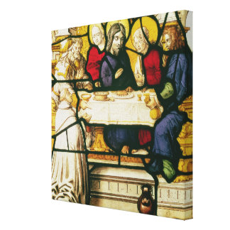 Panel depicting St. Andrew at the Supper at Emmaus Canvas Print
