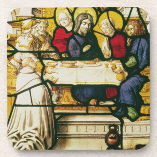Panel depicting St. Andrew at the Supper at Emmaus Beverage Coaster