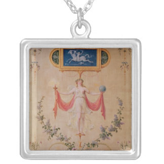 Panel from the boudoir of Marie-Antoinette Silver Plated Necklace
