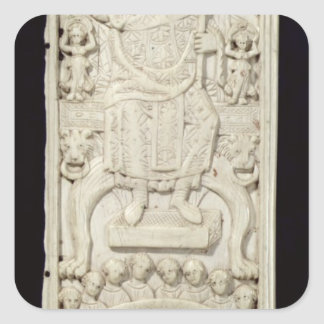Panel from the Diptych of Consul Areobindus Square Sticker