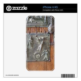 Panel from the left hand door, 12th century (bronz decal for iPhone 4