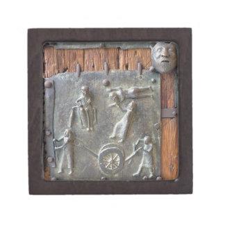 Panel from the left hand door, 12th century (bronz jewelry box