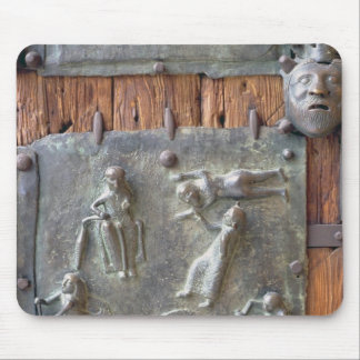 Panel from the left hand door, 12th century (bronz mouse pad