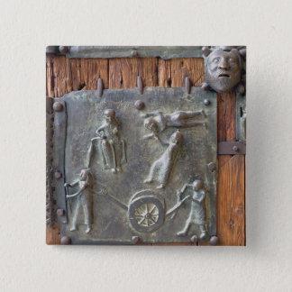 Panel from the left hand door, 12th century (bronz pinback button
